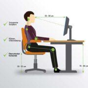 Sitzen am Arbeitsplatz